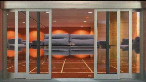 cửa kính cường lực tự động